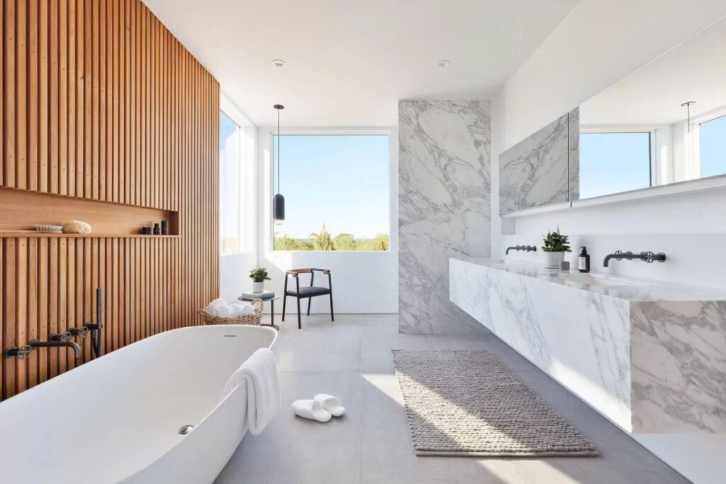 The House in New York is a luxurious new modern designed by renowned West Chin Architects provides every amenity for luxurious living now available for sale. This home located at 31 Startop Dr, Montauk, New York; offering 4 bedrooms and 7 bathrooms with over 5,000 square feet of living spaces.