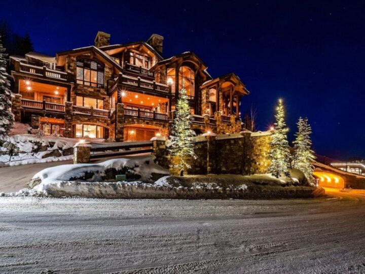 The Utah Property is a luxurious home with old-world craftsmanship and ski lodge comfort now available for sale. This home located at 10663 N Summit View Dr, Heber City, Utah; offering 9 bedrooms and 12 bathrooms with over 12,000 square feet of living spaces.