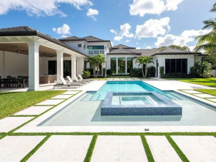 The Florida Home is an unique property with exquisite detail and impeccable design now available for sale. This home located at 111 Clipper Ln, Jupiter, Florida; offering 4 bedrooms and 8 bathrooms with over 7,700 square feet of living spaces.