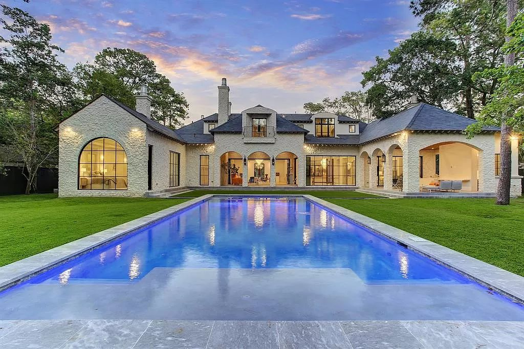 $9,980,000 Houston Home features Enchanting Fusion of French Elegance