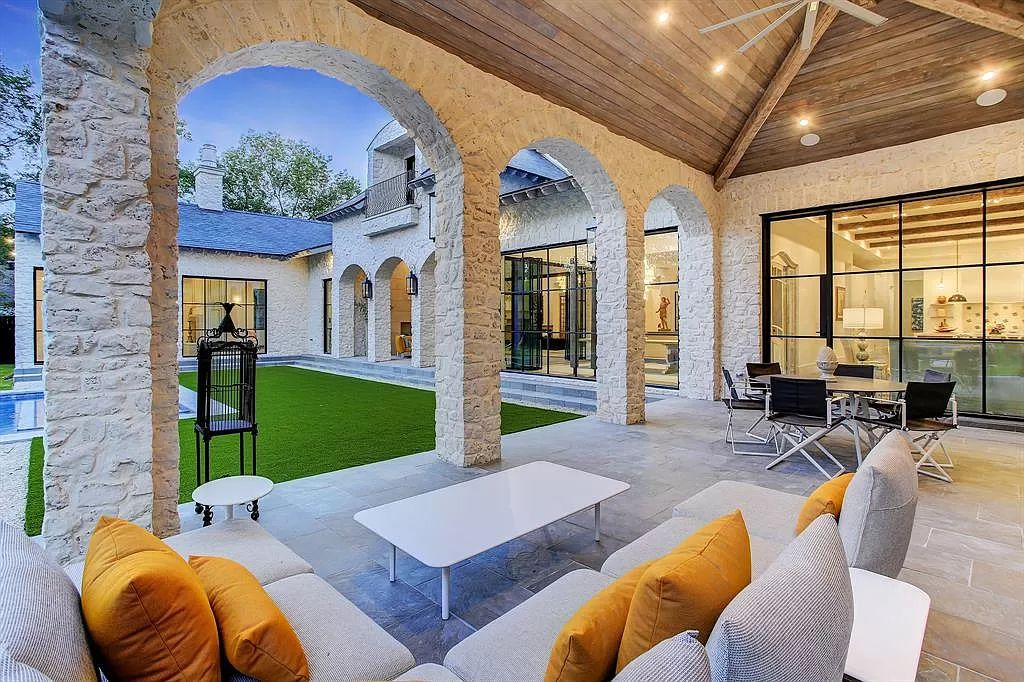 The Houston Home is a an enchanting fusion of French elegance and chic, contemporary vision now available for sale. This home located at 721 Ourlane Cir, Houston, Texas; offering 8 bedrooms and 11 bathrooms with over 12,000 square feet of living spaces.
