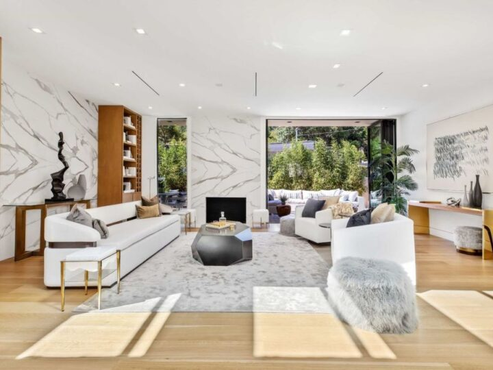 Inside a breathtaking house with serenity mountain view in California