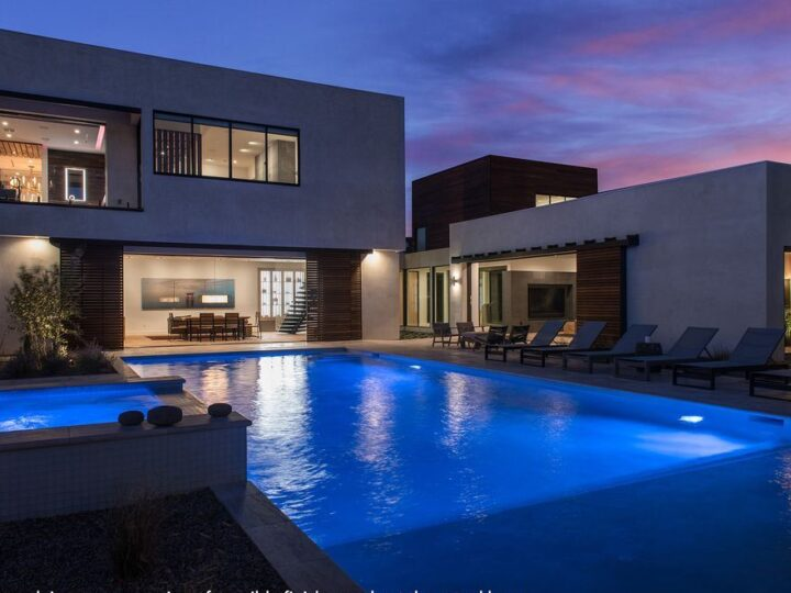 The Las Vegas House is an incredible residence with an interior design & construction platform elevated to new heights now available for sale. This home located at 6925 Stargazer Ridge Ct, Las Vegas, Nevada; offering 5 bedrooms and 6 bathrooms with over 6,000 square feet of living spaces.