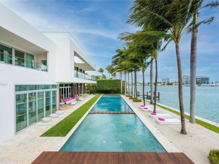 The Iconic Modern Estate in Miami Beach is sited on guard-gated La Gorce Island on an exquisitely manicured lot now available for sale. This home located at 88 La Gorce Cir, Miami Beach, Florida; offering 9 bedrooms and 15 bathrooms with over 17,000 square feet of living spaces.