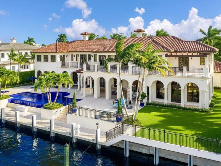 The Mansion in Boca Raton is a transitional design style estate in the prestigious community of Royal Palm Yacht & Country Club now available for sale. This home located at 191 W Key Palm Rd, Boca Raton, Florida; offering 7 bedrooms and 10 bathrooms with over 10,000 square feet of living spaces.