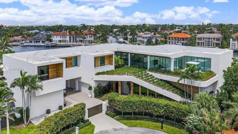The Boca Raton Mansion is a spectacular contemporary residence on an oversized Intracoastal Waterway lot now available for sale. This home located at 819 Orchid Dr, Boca Raton, Florida; offering 9 bedrooms and 14 bathrooms with over 12,600 square feet of living spaces.