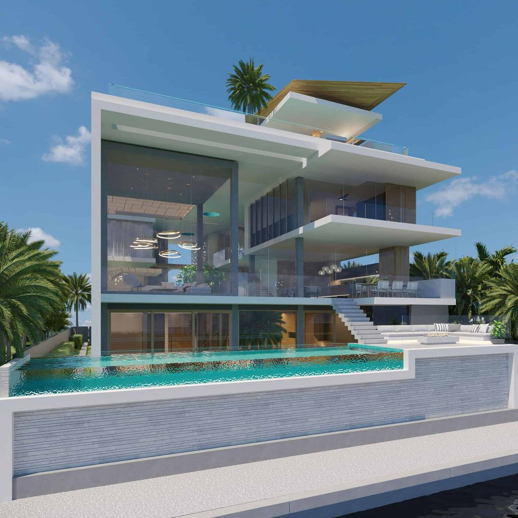 Concept Design of Royal Plams House in Australia by Chris Clout Design