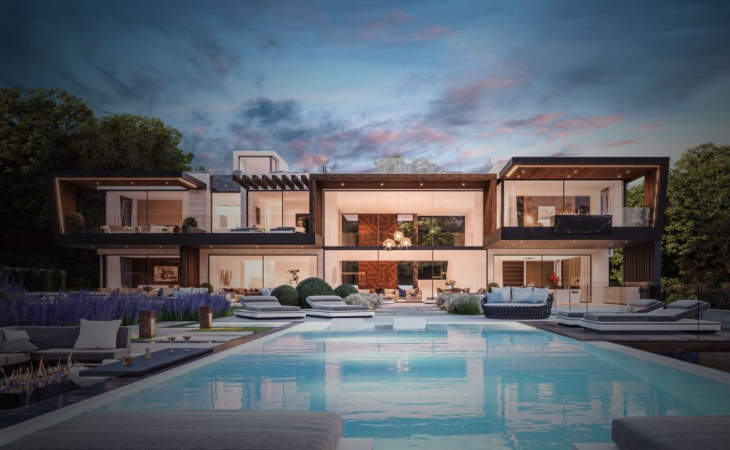 Design Concept of Villa Greenwich is a project located in Connecticut, United States was designed in concept stage by B8 Architecture and Design Studio in Modern style which is different to the traditional local architecture based in wooden construction.