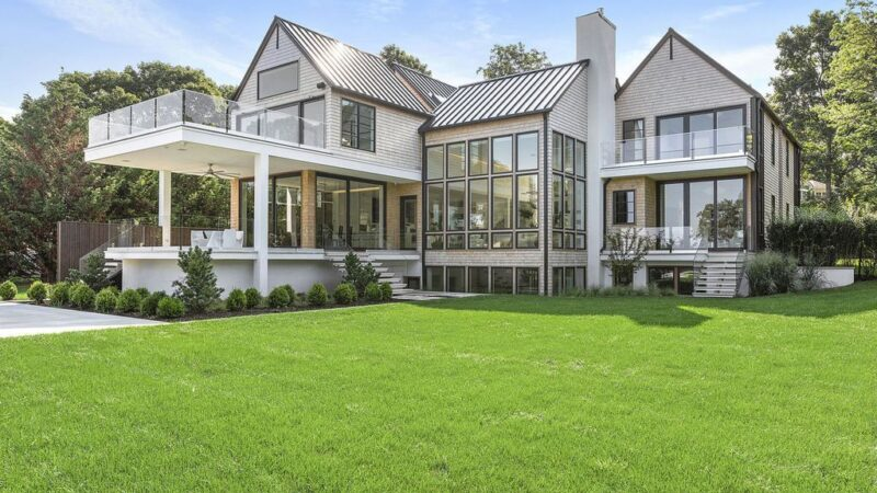 The Sag Harbor Home is a newly constructed and designed waterfront masterpiece designed by renowned architect Peter Cook now available for sale. This home located at 110 Hillside Dr E, Sag Harbor, New York; offering 8 bedrooms and 11 bathrooms with over 6,700 square feet of living spaces.