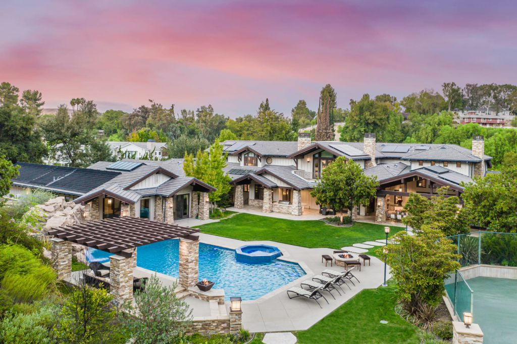 Hidden Hills Mansion with Contemporary Craftsman Style Sells for $24,888,000