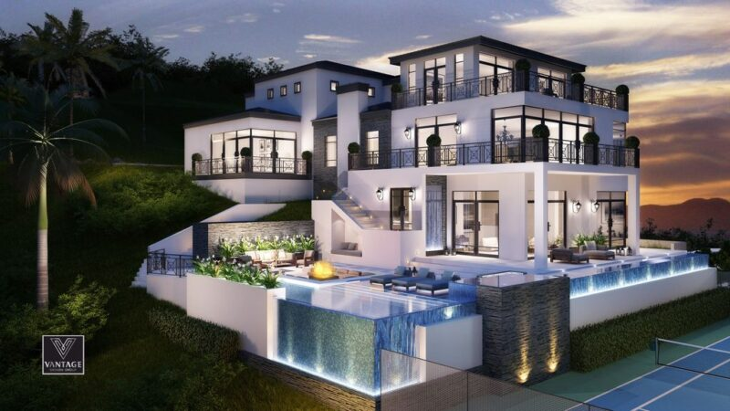 Los Angeles Modern Mansion Design Concept by Vantage Design Group
