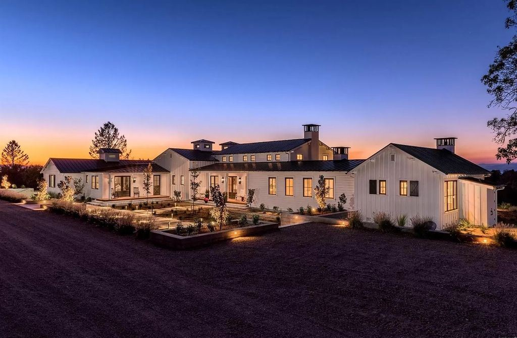 Newly Modern Farmhouse in Healdsburg Set on 77 Acres Asking for $7,890,000