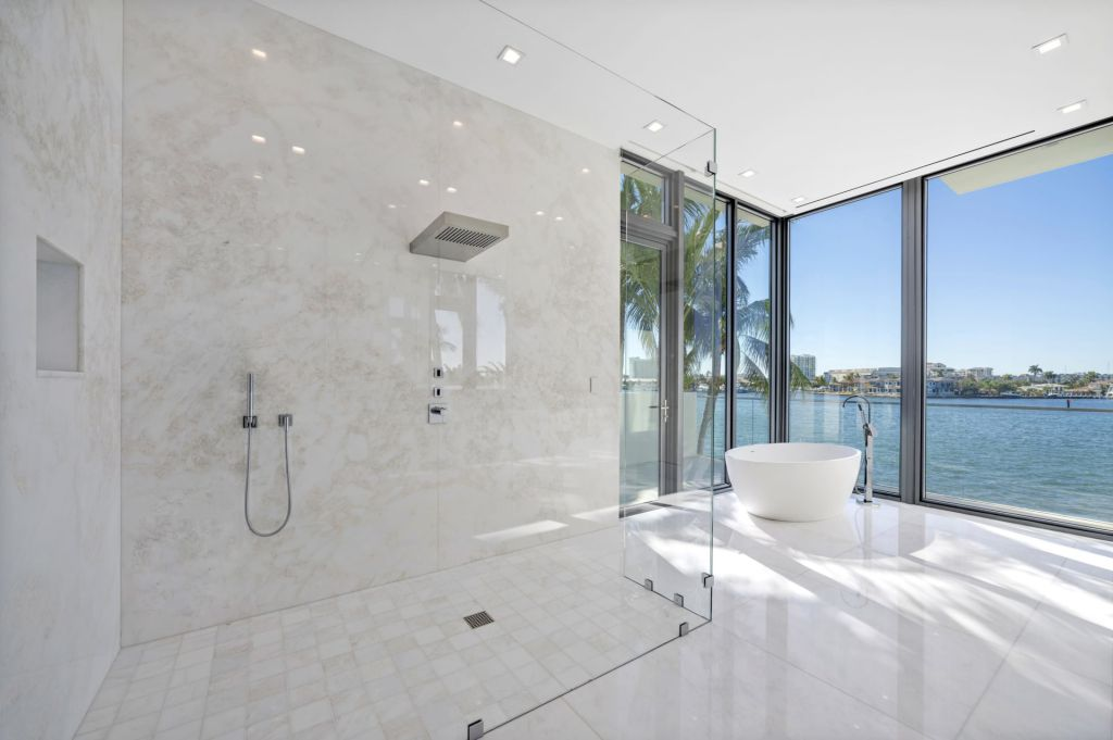 The Fort Lauderdale Mansion is a modern masterpiece in prestigious Harbor Beach with Awe-inspiring Intracoastal views now available for sale. This home located at 2412 Laguna Dr, Fort Lauderdale, Florida; offering 6 bedrooms and 9 bathrooms with over 9,400 square feet of living spaces