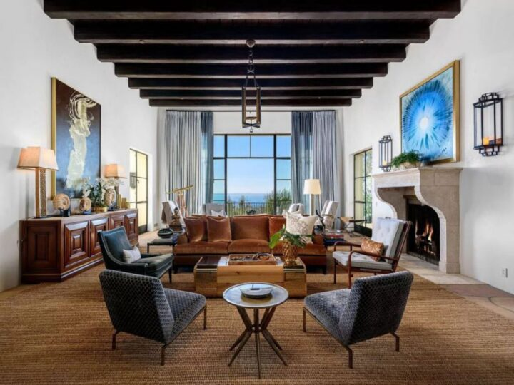 The Santa Barbara Home is a contemporary masterpiece redefines elevated living with gorgeous views and timeless romance now available for sale. This home located at 1630 E Mountain Dr, Santa Barbara, California; offering 5 bedrooms and 7 bathrooms with over 10,000 square feet of living spaces.