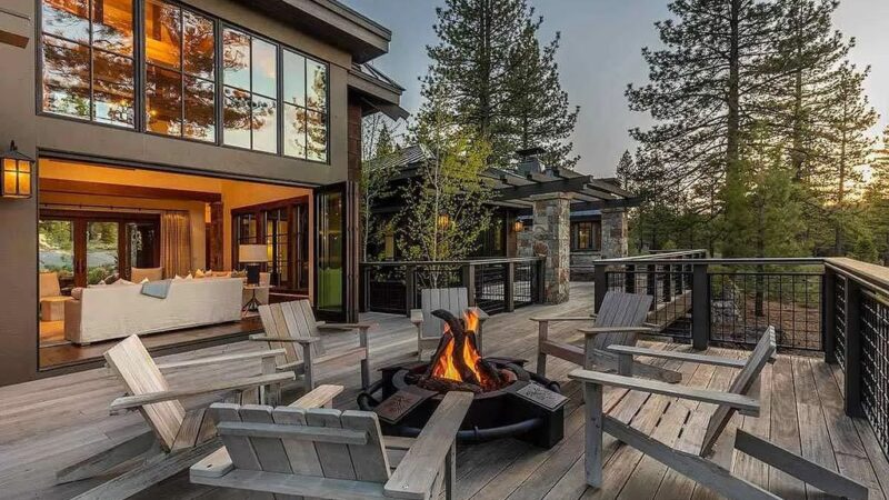 Stunning Contemporary Home with Double Facing Fireplace in California