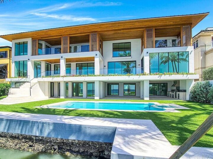 The Florida Mansion is a tropical modern residence in 24 hour Anchorage guard gated community now available for sale. This home located at 3525 Anchorage Way, Miami, Florida; offering 7 bedrooms and 8 bathrooms with over 9,000 square feet of living spaces.