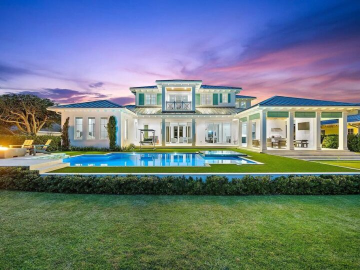 The British West Indies Home is a luxurious estate in Hidden Key offers the finest in family living with deep water access now available for sale. This home located at 11730 Lake Shore Pl, North Palm Beach, Florida; offering 4 bedrooms and 6 bathrooms with over 4,500 square feet of living spaces.