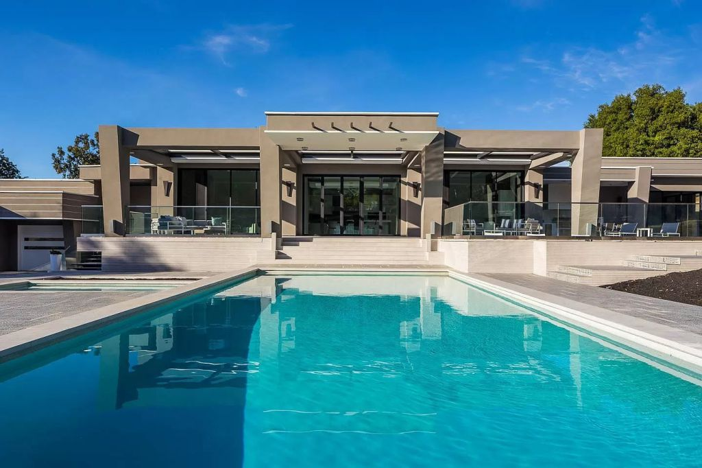 The Los Altos Hills House is a luxurious home with open layout now available for sale. This home located at 12398 Stonebrook Dr, Los Altos Hills, California; offering 5 bedrooms and 7 bathrooms with over 7,000 square feet of living spaces.