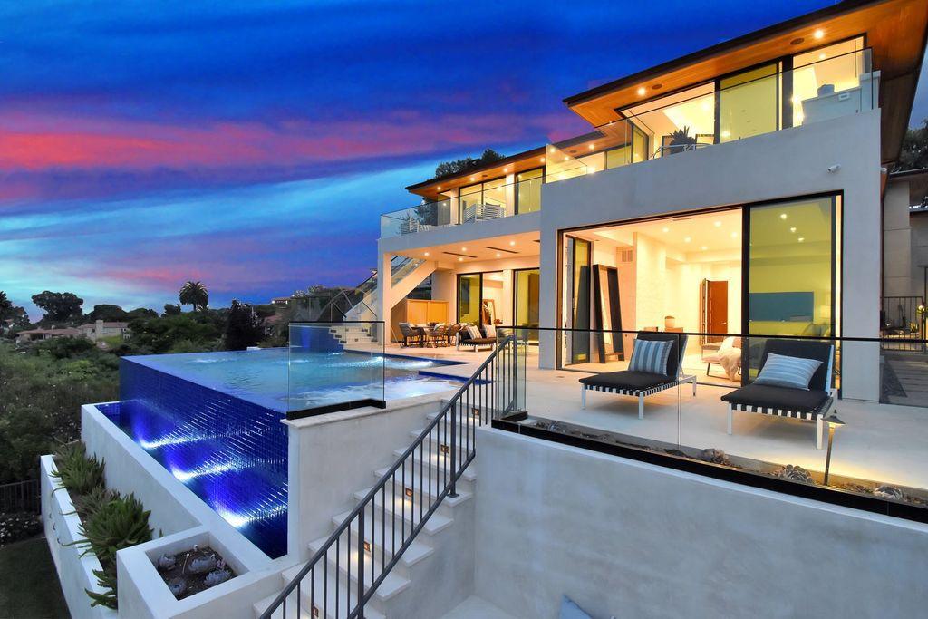 This $9,888,000 Newly California Contemporary Home has Panoramic Sea Views