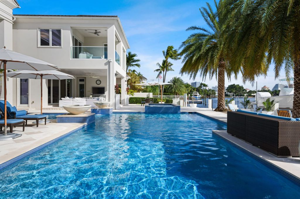 The Fort Lauderdale House is a luxurious estate on the intercostal waterway with the highest quality materials and design specifications now available for sale. This home located at 701 Middle River Dr, Fort Lauderdale, Florida; offering 6 bedrooms and 9 bathrooms with over 6,800 square feet of living spaces.