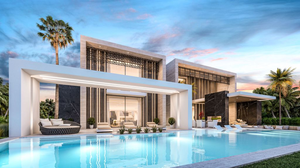 This Mansion Design Concept is Inspired in Traditional Arab Aesthetics