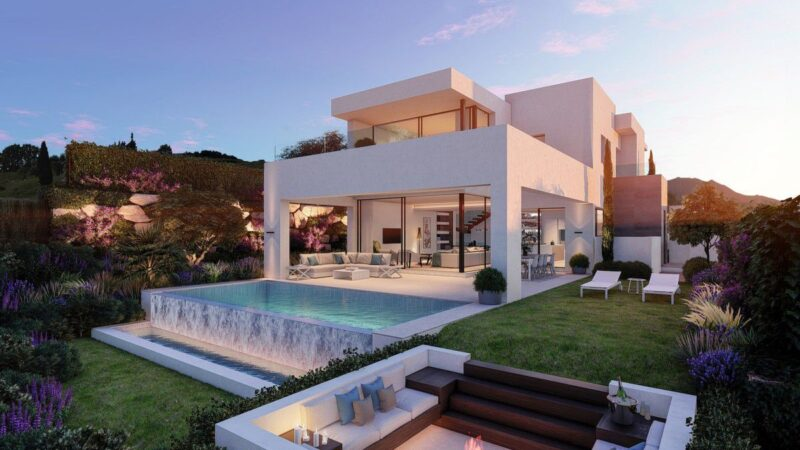 The Villa Concept is a project located in Estepona, Malaga, Spain was Inspired by the serenity of its natural setting between mountains and sea; it offers luxurious modern living. This home located on beautiful lot with amazing sea views and wonderful outdoor living spaces.