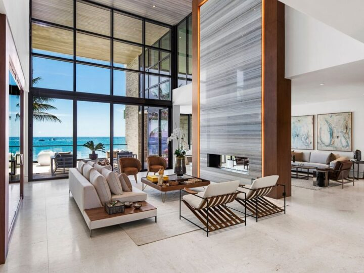 The Home in Pompano Beach is a newly completed the ultimate brand new Beach House with stunning modern design now available for sale. This home located at 2004 Bay Dr, Pompano Beach, Florida; offering 5 bedrooms and 6 bathrooms with over 6,000 square feet of living spaces.