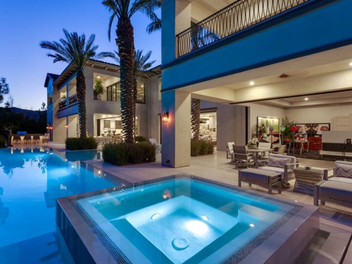 The Las Vegas Home boasts superbly executed private hideaways designed for living the good life, for large celebrations and grand gatherings now available for sale. This home located at 47 Quintessa Cir, Las Vegas, Nevada; offering 5 bedrooms and 6 bathrooms with over 12,000 square feet of living spaces.