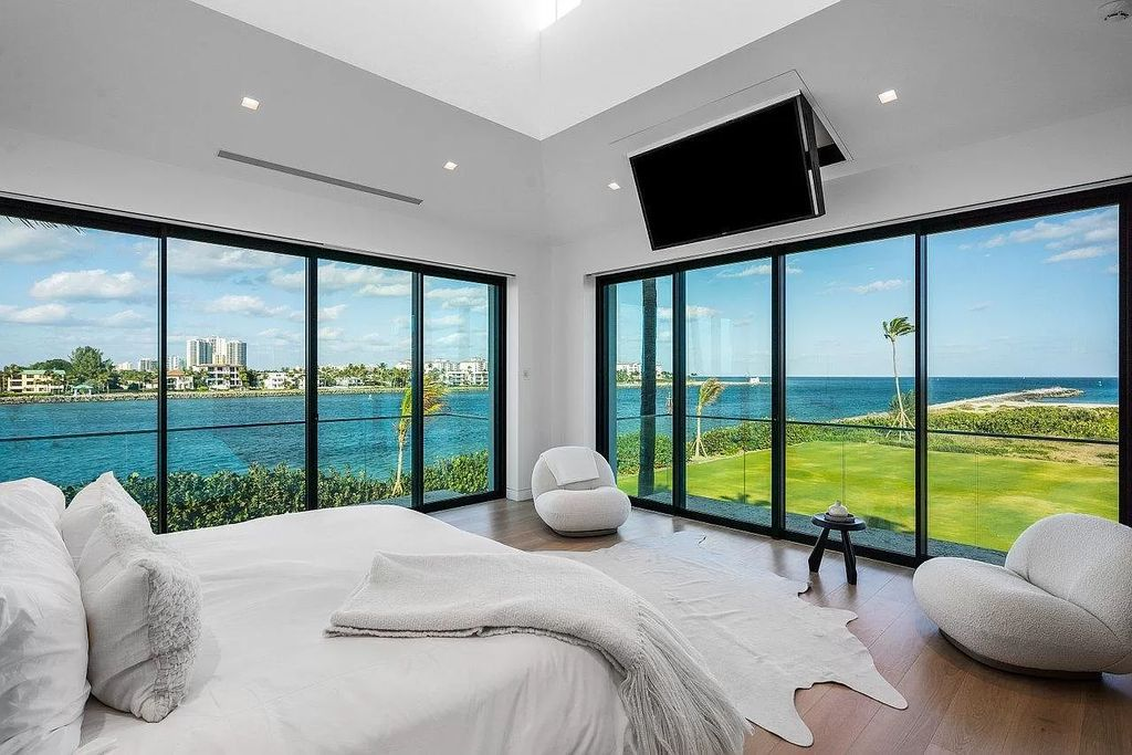 The Palm Beach Mansion is a Direct oceanfront masterpiece offers the most unique South Florida indoor, outdoor living experience now available for sale. This home located at 149 E Inlet Dr, Palm Beach, Florida; offering 7 bedrooms and 11 bathrooms with over 7,600 square feet of living spaces.