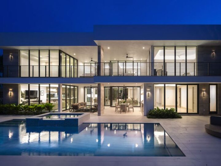 The Modern Home in Fort Lauderdale is a newly completed residence features the expansive covered area and intracoastal views now available for sale. This home located at 2519 Lucille Dr, Fort Lauderdale, Florida; offering 6 bedrooms and 8 bathrooms with over 6,900 square feet of living spaces.