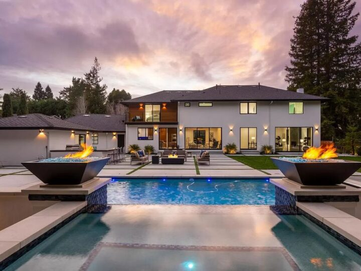 The Hillsborough Home is a spectacular, completely renovated, state-of-the-art home offers tremendous modern flair now available for sale. This home located at 1460 Crystal Dr, Hillsborough, California; offering 5 bedrooms and 7 bathrooms with over 4,000 square feet of living spaces.