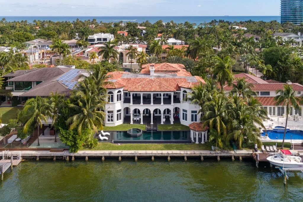 An Impeccably Designed Golden Beach Waterfront Home for Sale at $15,900,000
