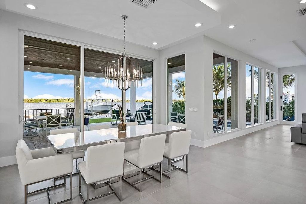 The Coastal Contemporary Home is an intracoastal estate boasting elegance, clean lines, walls of floor to ceiling glass with unobstructed views now available for sale. This home located at 2505 Lake Dr N, Boynton Beach, Florida; offering 4 bedrooms and 5 bathrooms with over 5,000 square feet of living spaces.