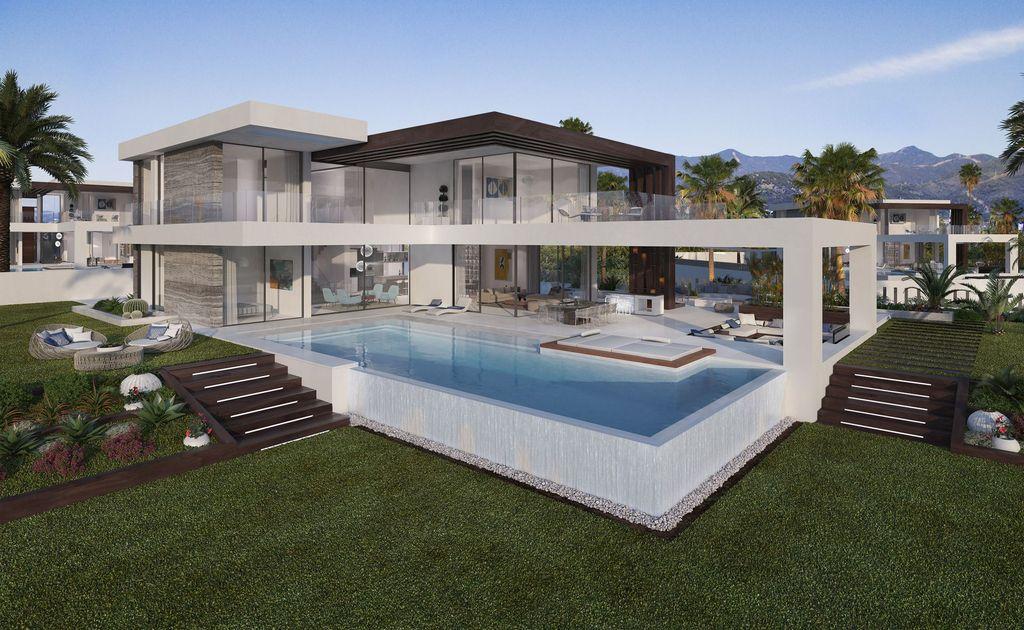 Design Concept of Luxurious Contemporary Villa in Estepona, Spain