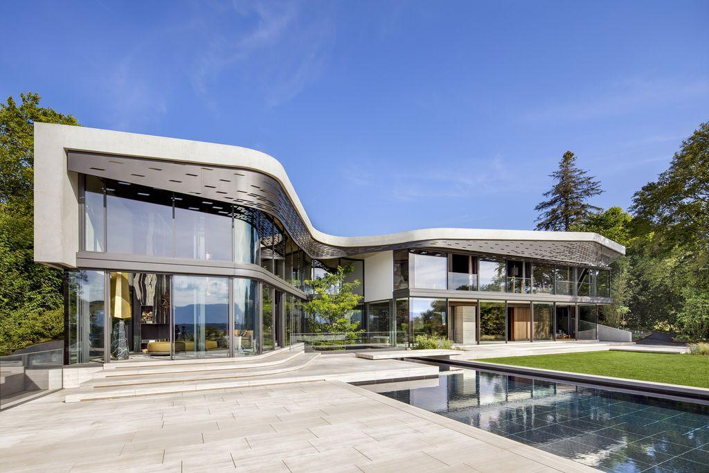 Extravagant Modern Villa Courbe in Switzerland by SAOTA