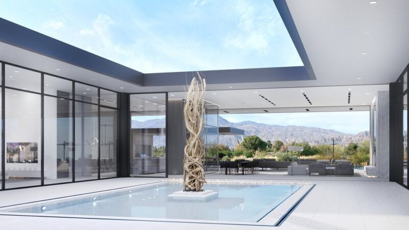 Madison Club 59 Villa Concept is a project located in La Quinta, California was designed in concept stage by Hudgins Design Group in Modern style; it offers luxurious modern retreat. This home located on beautiful lot with amazing mountains views and wonderful outdoor living spaces.