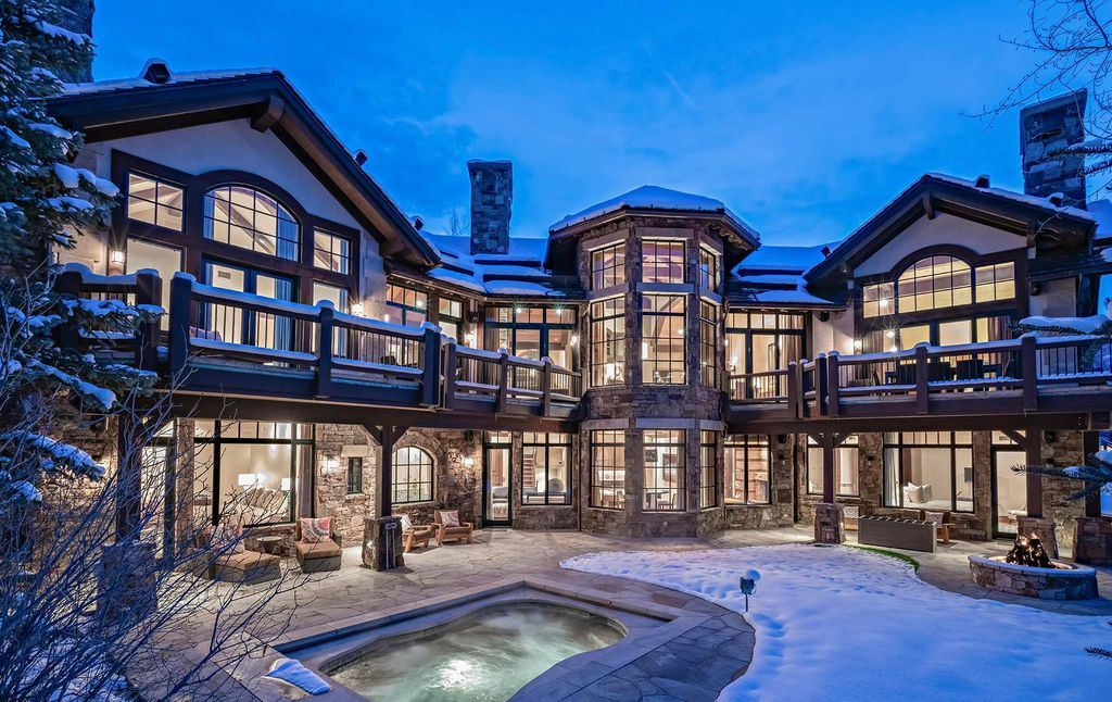 Luxury Vail Mountain Chalet with Classic European-Inspired on Market for $32,950,000