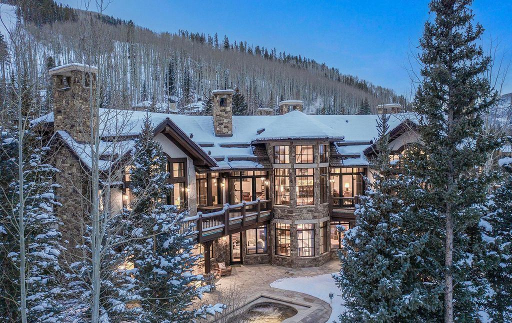 The Vail Mountain Chalet is a luxurious a classic European-inspired property with exclusive access to Vail Mountain now available for sale. This home located at 615 Forest Pl, Vail, Colorado; offering 7 bedrooms and 14 bathrooms with over 11,800 square feet of living spaces.