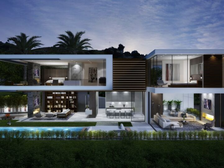 Thrasher Mansion Design Concept is a project located in Sunset Strip, Los Angeles, California was designed in concept stage by CLR Design Group in Modern style; it offers luxurious modern living of 6,000 square feet with 4 bedrooms and 4 bathrooms.