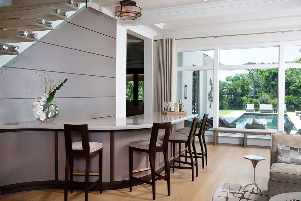 Contemporary Interior Design for Old Naples home in Florida was made by Ficarra Design Associates in Classic Contemporary style. This design creates functionally spacious indoor living from good finish materials, with impressive decorations and smart amenities.