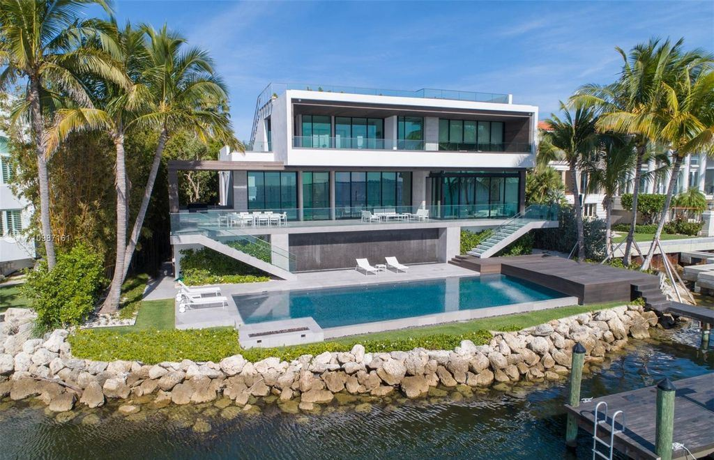 Spectacular Modern Miami Waterfront Home Boasts Open Bay Views Sells for $16,900,000