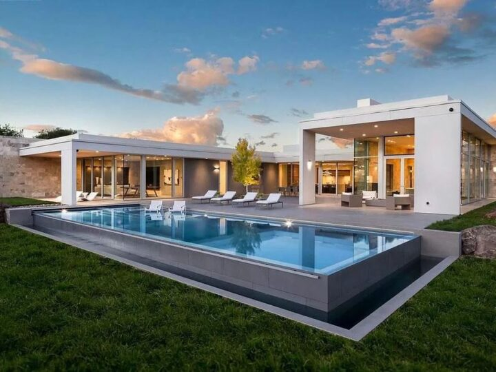 The Estate in California is an extraordinary Napa Valley property features wellness pavilion, sport court, infinity pool now available for sale. This home located at 1561 S Whitehall Ln, Saint Helena, California; offering 7 bedrooms and 11 bathrooms with over 14,000 square feet of living spaces.