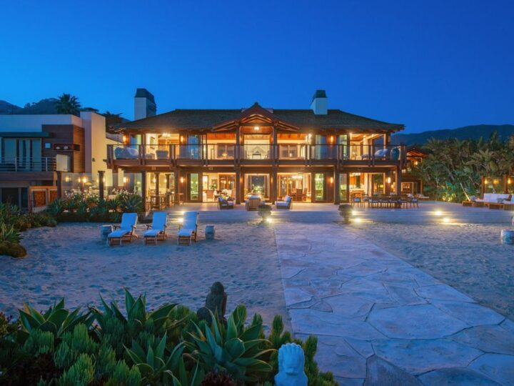 The Malibu Mansion is a Thai-inspired oasis on a rare parcel of more than one acre with approximately 117 feet of beachfront now available for sale. This home located at 31118 Broad Beach Rd, Malibu, California; offering 5 bedrooms and 14 bathrooms with over 17,000 square feet of living spaces.