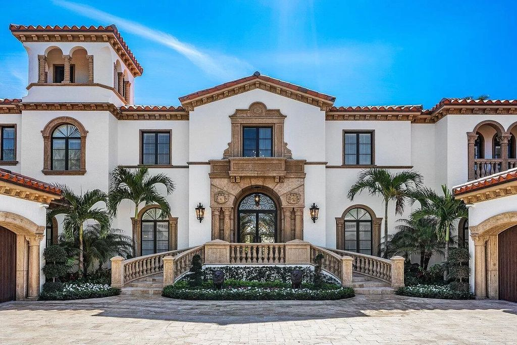 The Palm Beach Estate is a magnificent property established in Palm Beach Island with close proximity to the Ocean now available for sale. This home located at 120 Clarendon Ave, Palm Beach, Florida; offering 8 bedrooms and 11 bathrooms with over 9,400 square feet of living spaces.