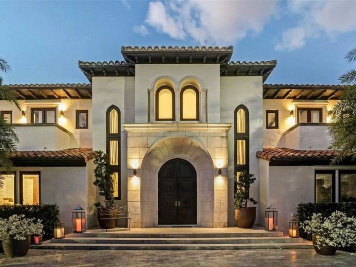 The Mediterranean Mansion is one of the largest waterfront estates on Sunset Islands offers abundance of private luxurious amenities now available for sale. This home located at 1525 W 24th St, Miami Beach, Florida; offering 7 bedrooms and 10 bathrooms with over 11,500 square feet of living spaces.
