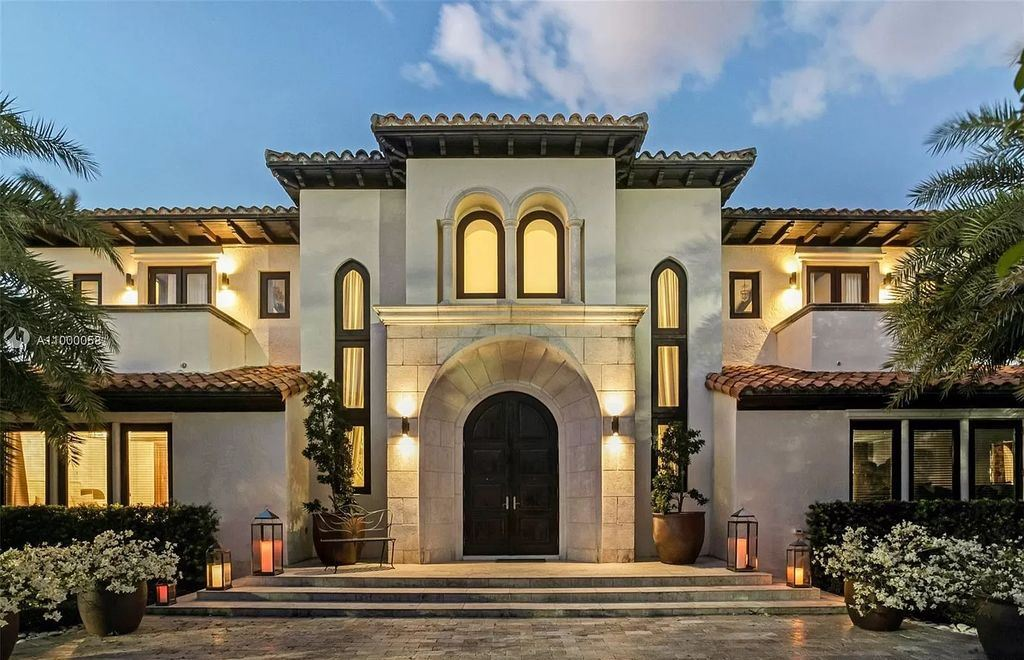 This $24,000,000 Mediterranean Mansion is One of The Largest Waterfront Estates on Sunset Islands