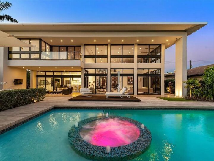 The Florida Property is a one of a kind masterpiece in the exclusive Golden Isles offers beautiful water views now available for sale. This home located at 219 Holiday Dr, Hallandale Beach, Florida; offering 5 bedrooms and 7 bathrooms with over 5,900 square feet of living spaces.