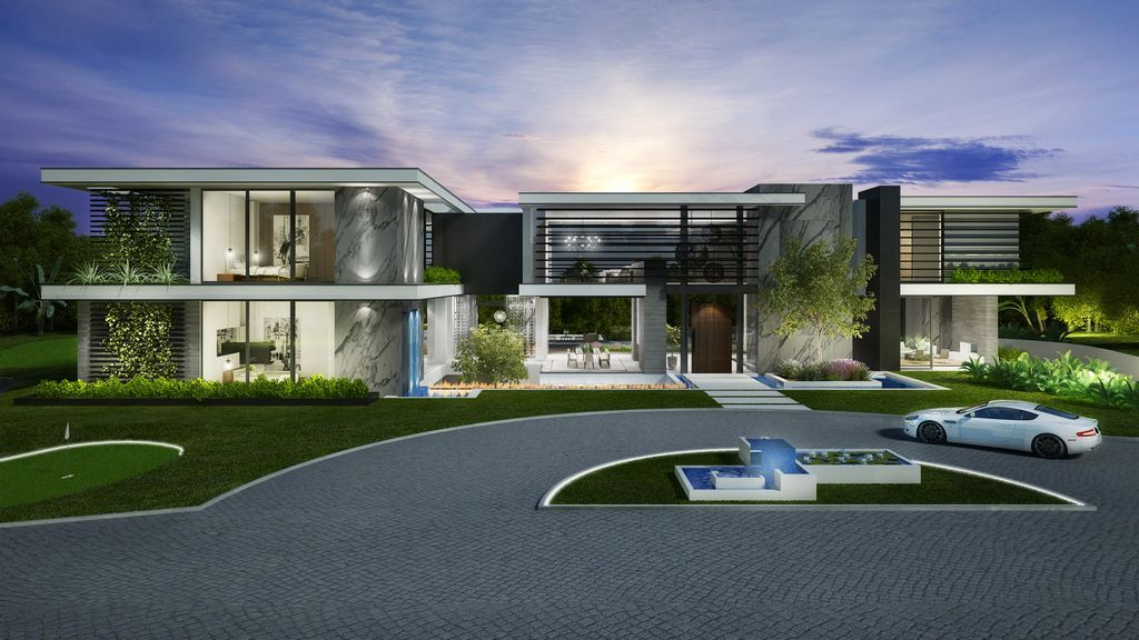Design Concept of Lavish Bel Air Mansion is a project located in one of the best streets of Los Angeles, California was designed in concept stage by CLR Design Group; it offers luxurious modern living of 12,000 square feet with 7 bedrooms and 9 bathrooms.