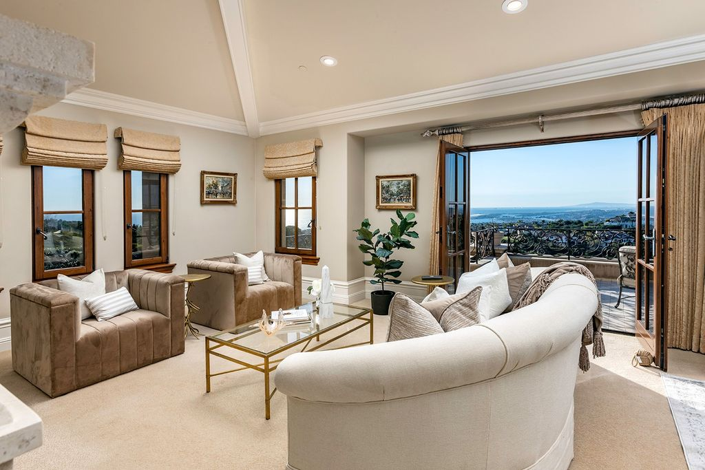 The Newport Coast Home boasts coastal southern California grandeur throughout on a front row unobstructed hilltop now available for sale. This home located at 7 Sailcrest, Newport Coast, California; offering 7 bedrooms and 8 bathrooms with over 9,800 square feet of living spaces.