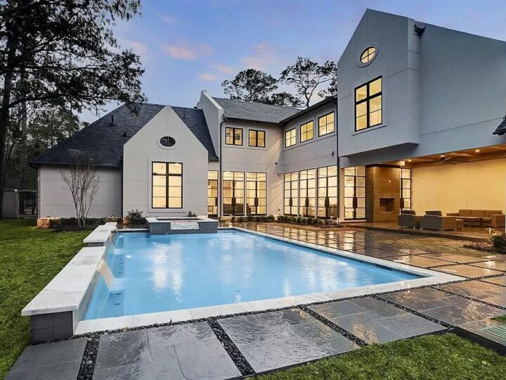 The Home in Houston is a breathtaking new construction with 2 exquisite Masters and a sophisticated outdoor living now available for sale. This home located at 11614 Starwood Dr, Houston, Texas; offering 5 bedrooms and 8 bathrooms with over 7,800 square feet of living spaces.